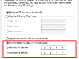 how to change windows 10 dns server
